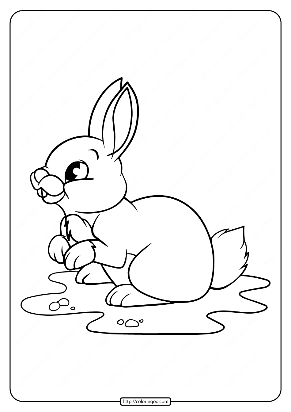 Free Printable Rabbit Pdf Coloring Pages