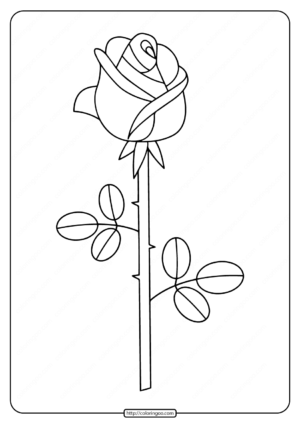 Free Printable Rose Coloring Pages
