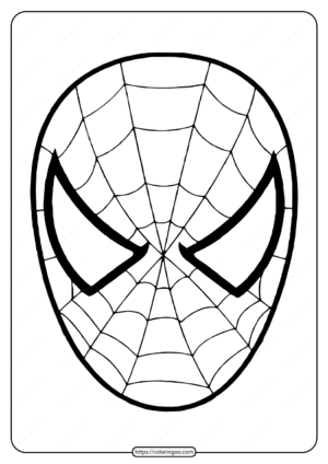 Free Printable Spiderman Mask Coloring Page