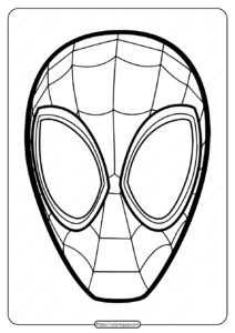 Free Printable Spiderman Mask Pdf Coloring Page
