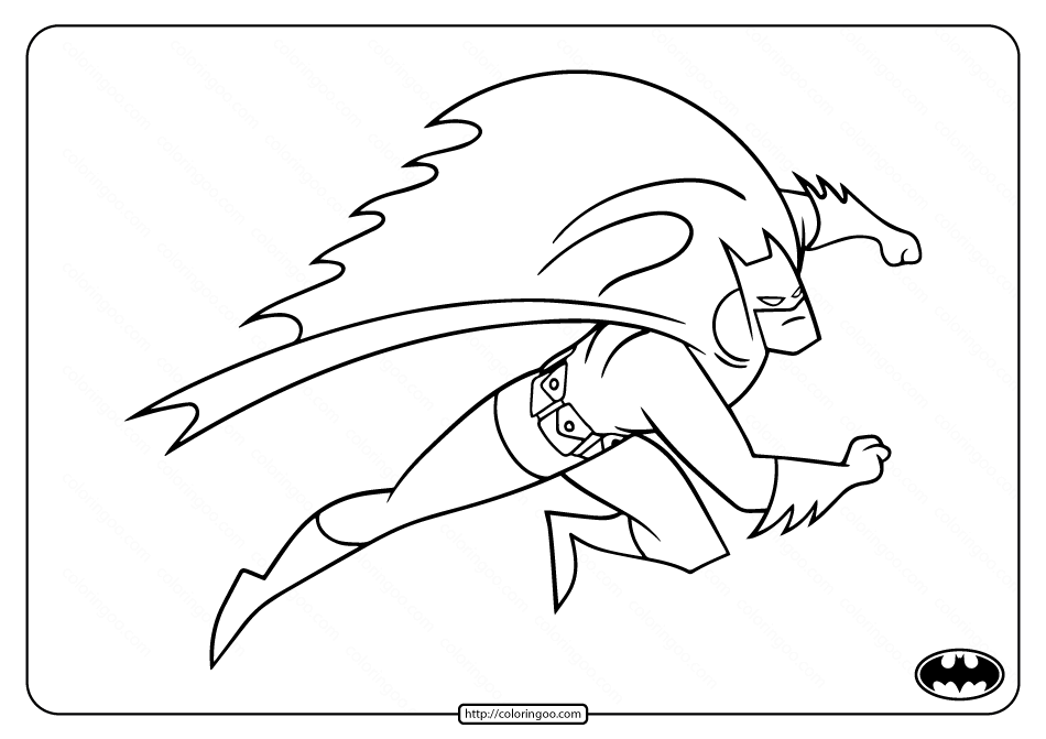 Free Superhero Batman Coloring Pages