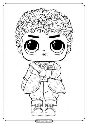 LOL Surprise Boys His Royal High Ney Coloring Page