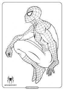 Marvel Hero Spiderman Pdf Coloring Page