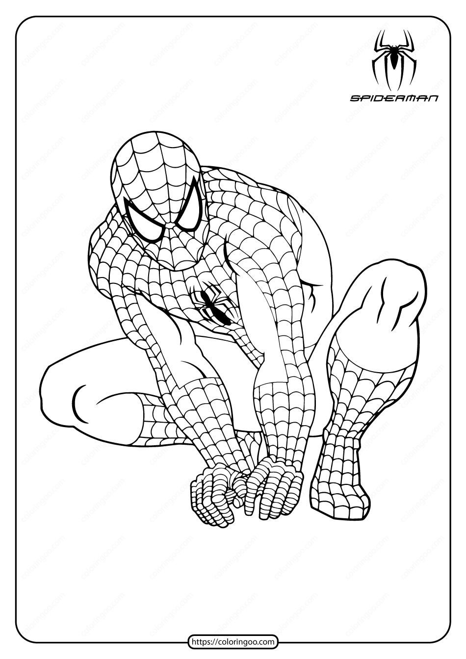 Marvel Hero Spiderman Pdf Coloring Pages