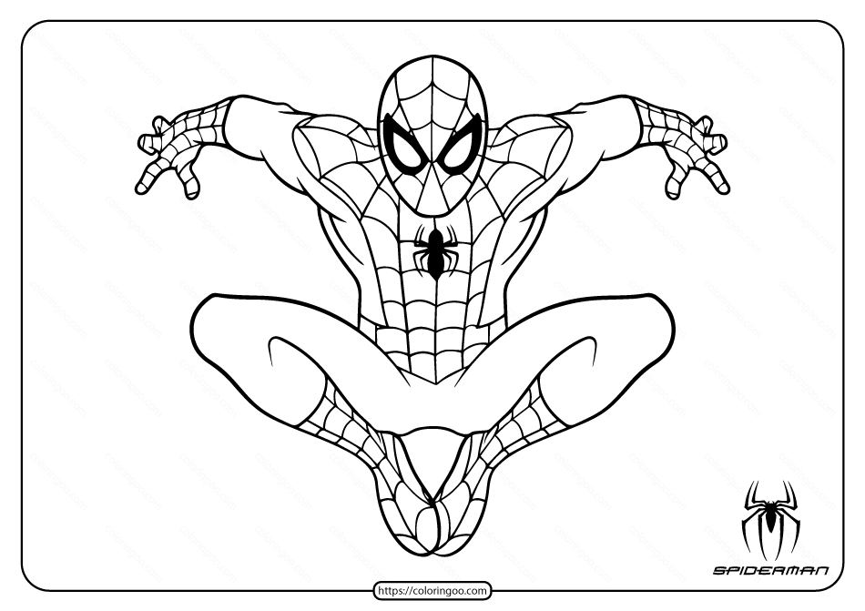 Marvel Spiderman Coloring Pages for Kids