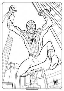 Marvel Spiderman Free Printable Coloring Pages