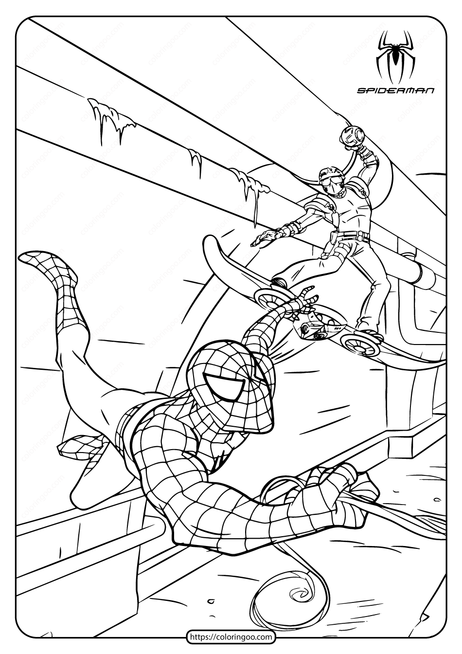 Marvel Spiderman Pdf Coloring Pages