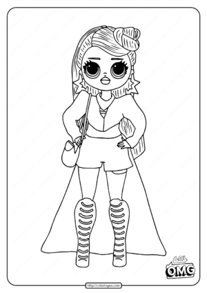 OMG Fashion Doll Miss Independent Coloring Page