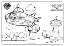 Paw Patrol and Friends Free Printable Air Patroller
