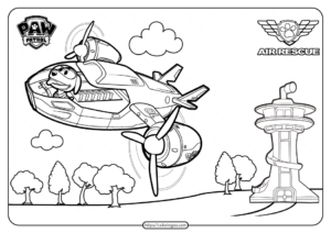 Paw Patrol and Friends Free Printable Air Patroller