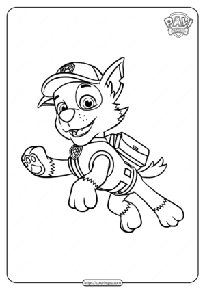Paw Patrol Rocky Coloring Pages for Kids