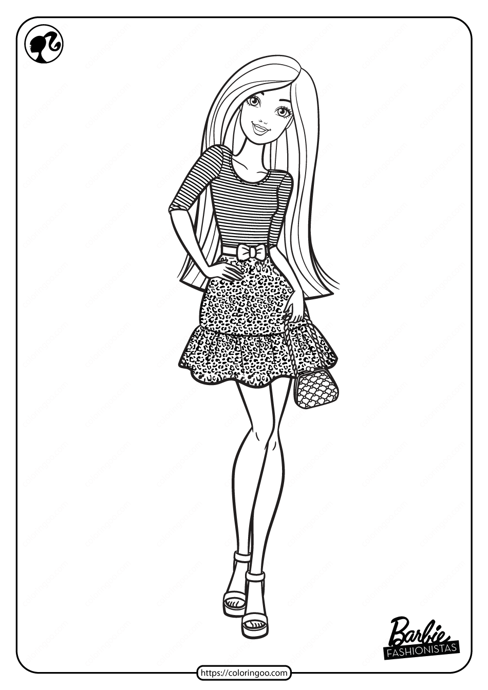 Printable Barbie Fashionistas Pdf Coloring Pages 01