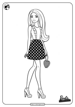 Printable Barbie Fashionistas Pdf Coloring Pages 02