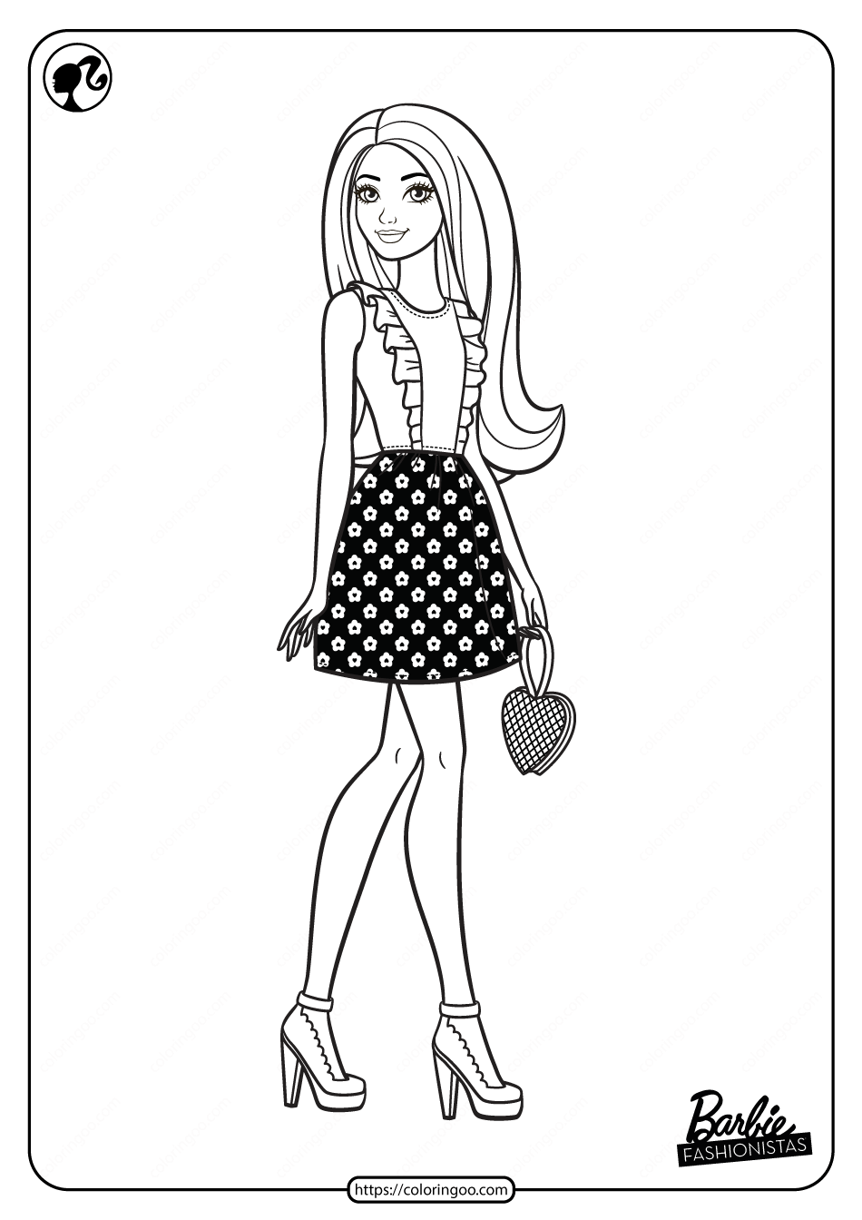 Printable Barbie Fashionistas Pdf Coloring Pages 02