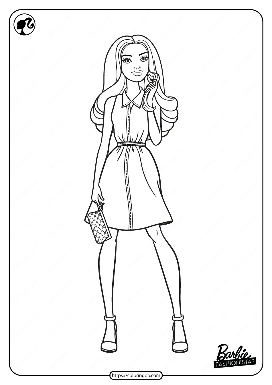 Printable Barbie Fashionistas Pdf Coloring Pages 04