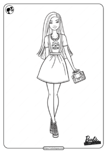 Printable Barbie Fashionistas Pdf Coloring Pages 07