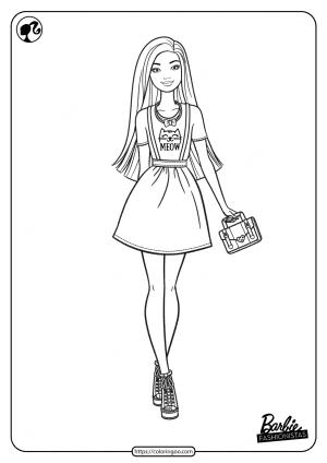 Printable Barbie Fashionistas Pdf Coloring Pages 07