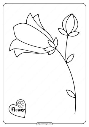 Printable Basic Flower Coloring Pages