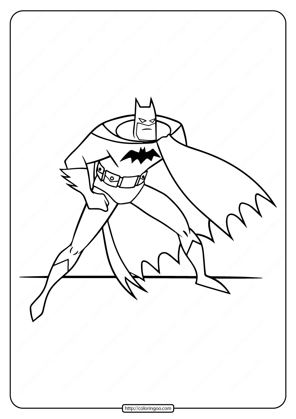 Printable Batman Coloring Pages for Boys