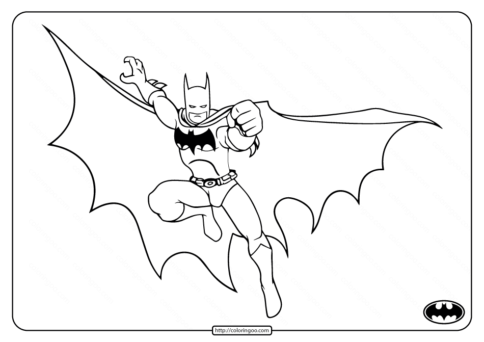 Printable Batman In Action Coloring Pages
