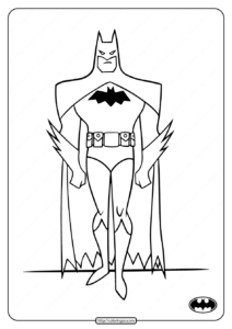 Printable Dark Knight Batman Coloring Pages