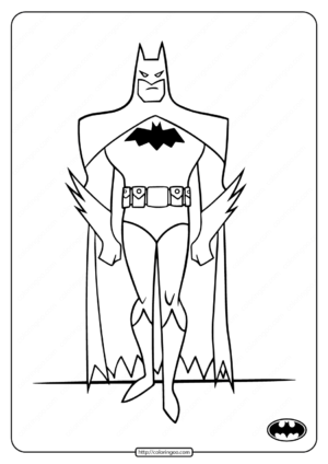 Printable Dark Knight Batman Coloring Pages