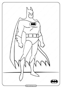 Printable DC Superhero Batman Coloring Pages
