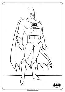 Printable DC Superhero Batman Coloring Pages