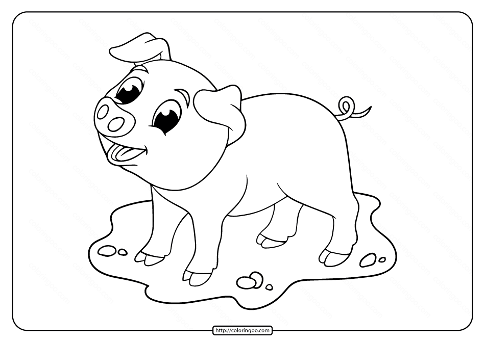 Printable Little Pig Smile Coloring Pages