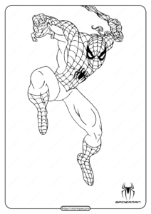 Printable Marvel Spiderman Coloring Page