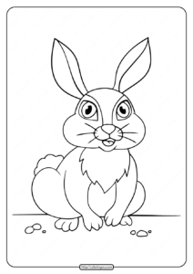 Printable Old Rabbit Coloring Pages for Kids