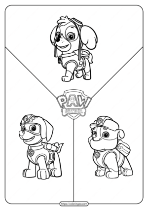 Printable Paw Patrol Friends Coloring Pages