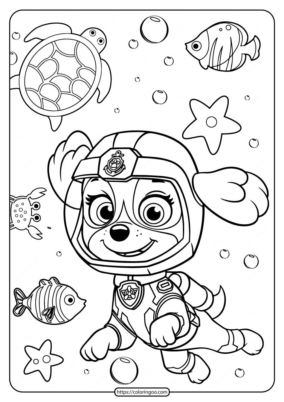 Printable Paw Patrol Pdf Coloring Pages for Boys