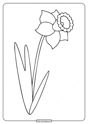 Printable Simple Flower Drawing Coloring Pages