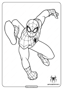 Printable Superhero Spiderman Coloring Pages
