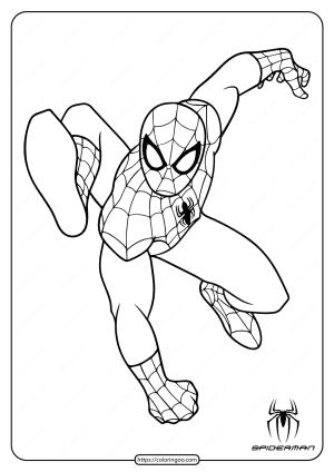 Printable Superhero Spiderman Coloring Pages