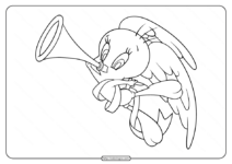 Printable Tweety Angel of Love Coloring Pages