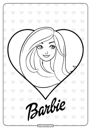 Barbie Love Coloring Pages