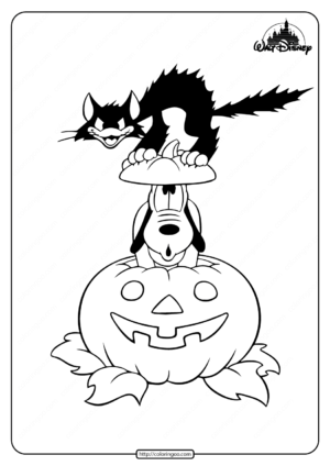 Disney Pluto Halloween Coloring Pages