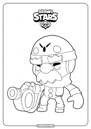 Printable Brawl Stars Gale Coloring Pages