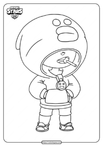 Free Printable Brawl Stars Leon Coloring Pages