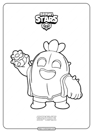 Free Printable Brawl Stars Spike Coloring Pages