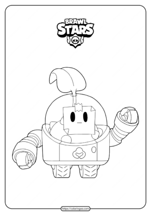 Free Printable Brawl Stars Sprout Coloring Pages