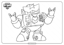 Free Printable Brawl Stars Surge Coloring Pages
