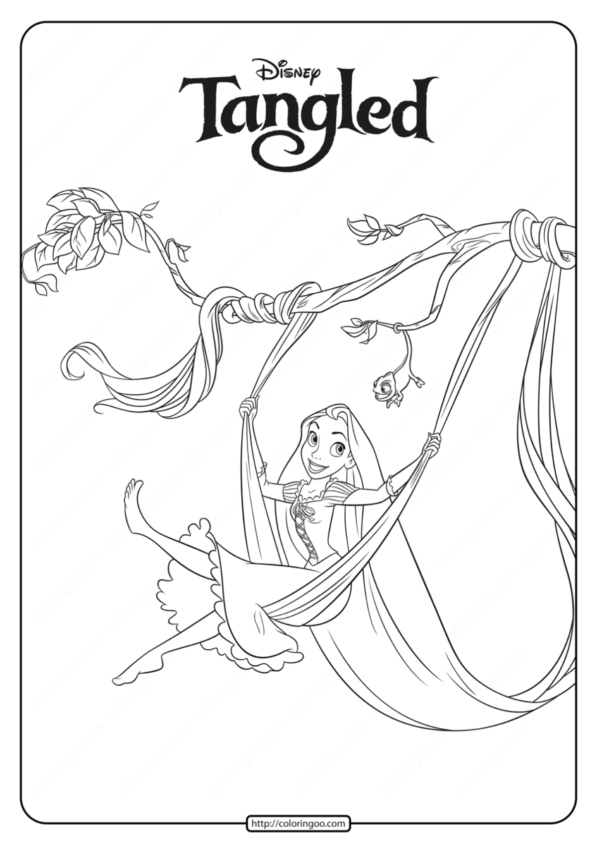 Free Printable Disney Tangled Coloring Pages