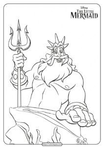 Free Printable King Triton Coloring Pages