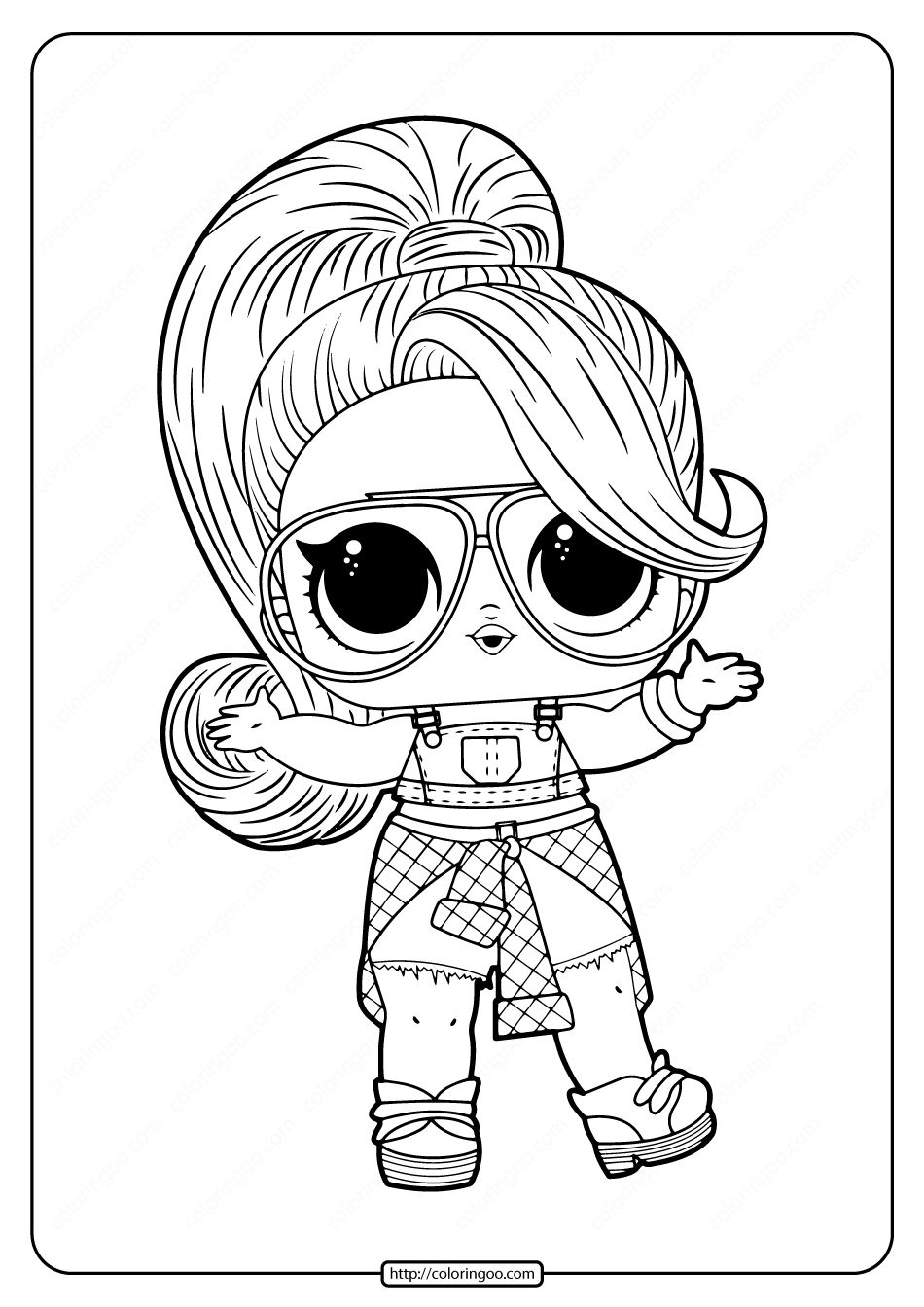 Free Printable LOL Doll Twang Coloring Pages