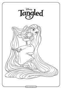 Free Printable Princess Rapunzel Coloring Pages