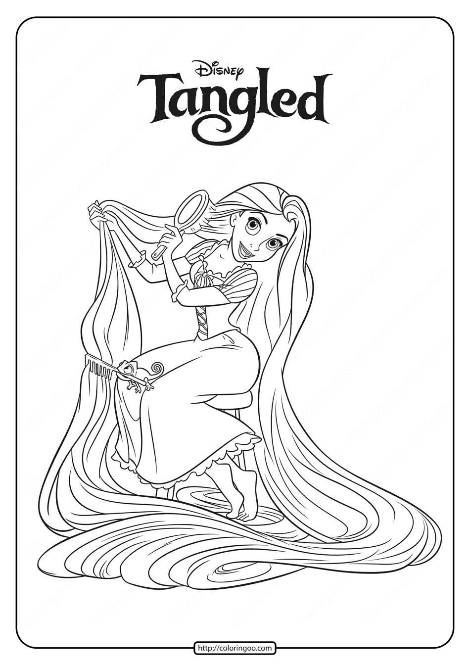 Free Printable Princess Rapunzel Coloring Pages