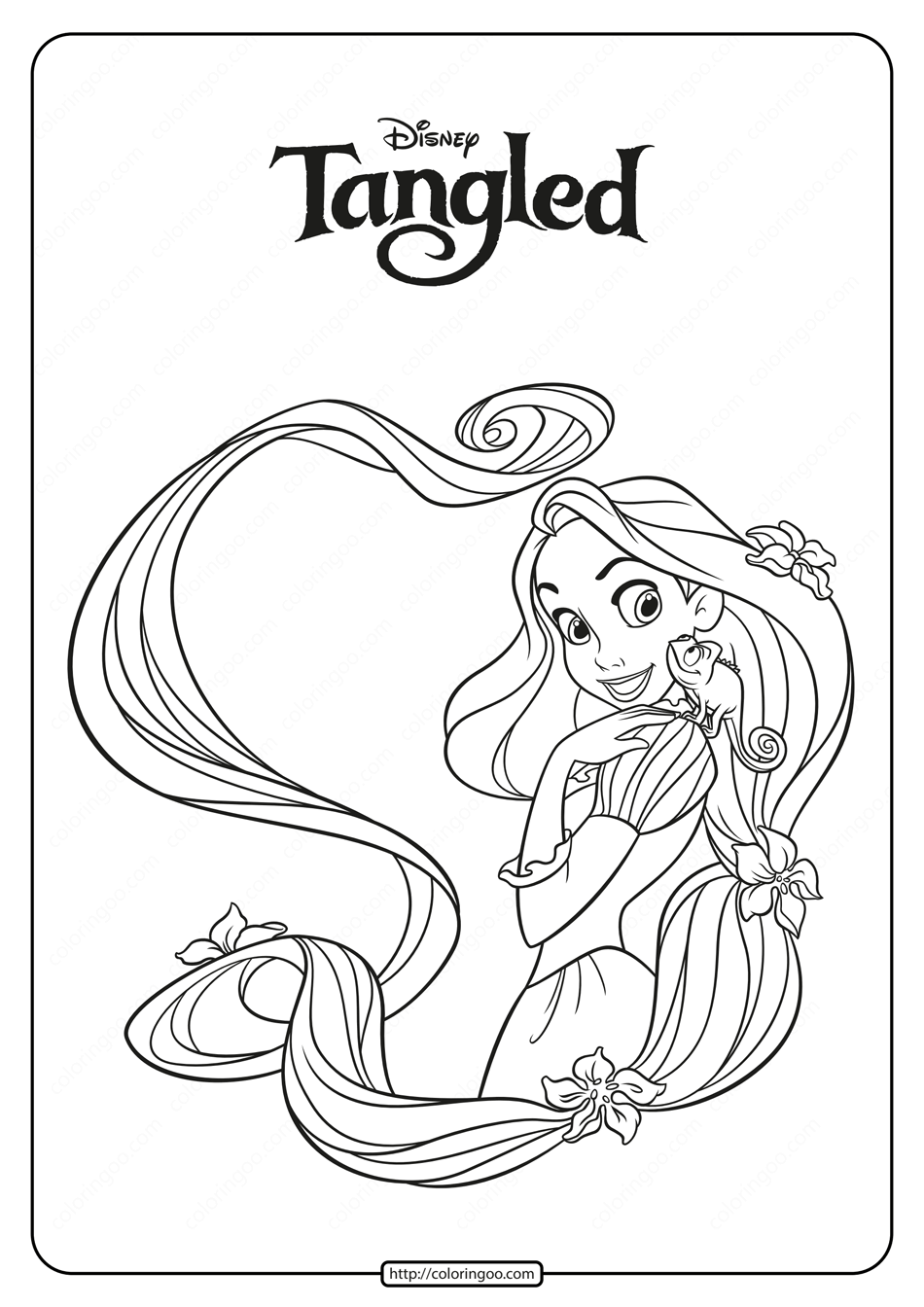 Free Printable Rapunzel Coloring Pages for Kids